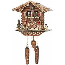 Trenkle Reloj cucú de Cuarzo Casa Suiza con música, Bailarines Que Dan Vuelta TU 4209