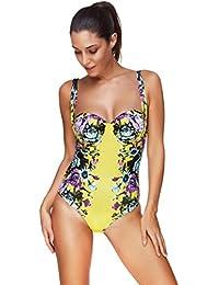 Cinnamou-Mujer Correa Elástica Conjunto con Pantalones Cortos de Triángulo,Conjunto de Trajes de Baño Tankini Para Mujeres Tallas Grandes Sexy Tops de Baño