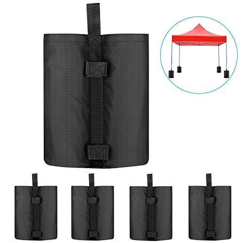 Neewer 4 Stück Gewichtstaschen Pavillonstandfüße für die Verankerung von einem Überdachungs Zelt Pavillon Gartenpavillon, 38×34×52 cm (schwarz, leere Tasche)