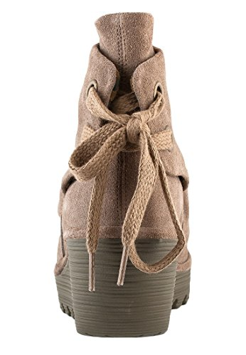 Fly London Yama P500326022, Boots femme Taupe