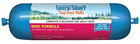 Natural Balance Beef Formula Dog Food Rolls Complete Adult Training Treats 1lbs