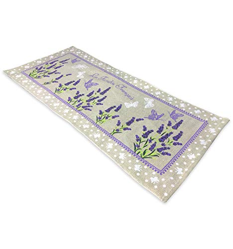 tex family Küchenteppich Rutschfest Provence Sweet Lavendel–cm. 50x 120