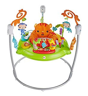 Fisher-Price CHM91 - Jumperoo Baby Hopser inkl. 12 Spielzeugen höhenverstellbar mit Musik und Lichtern, max. 11,3 kg / 81 cm (B019XSJTB0) | Amazon price tracker / tracking, Amazon price history charts, Amazon price watches, Amazon price drop alerts