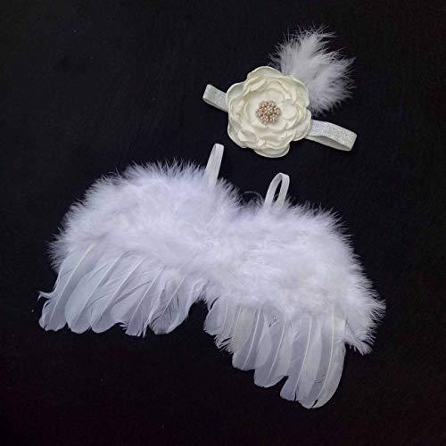 Ballylelly-Neugeborene Fotografie Requisiten Säuglingsbabys Angel Feather Wings Prop Wings