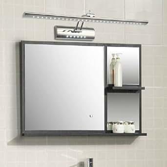 hengda edelstahl 11w led spiegelleuchte spiegellampe schrankleuchte wand badleuchte mit. Black Bedroom Furniture Sets. Home Design Ideas