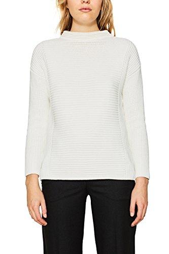 ESPRIT Collection Damen Pullover 107EO1I014 Weiß (Off Waxen 110), Medium