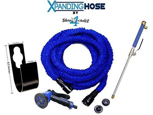 xpanding 50FT Schlauch Bundle Set-Expanding Gartenschlauch + Schlauch Halter + Wasser Jet + 8Einstellungen Spray Gun -