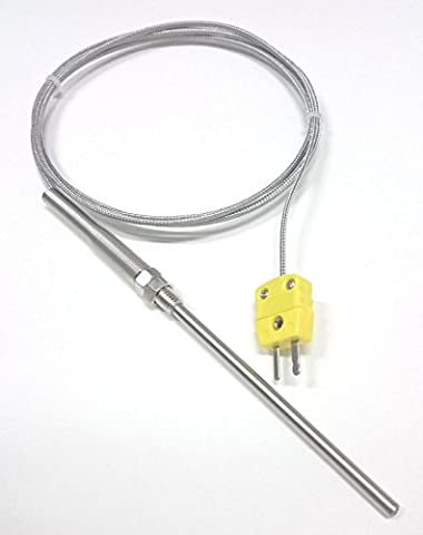 Perfect-Prime TL1815 K-Typ Sensor Sonden Metall HeadProbe fur K-Typ Sonde Thermoelement Sensor & Meter im Temperaturbereich von 0 bis 800 °C