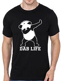 Panda Dab Life Printed Round Neck Unisex T-shirt By Fashion Fleaa