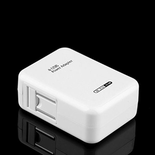 ulable 2.1 A 4 Anschlüsse USB Tragbare Home Travel Wall Charger US-Stecker AC Power Adapter Ein Ac-home Charger