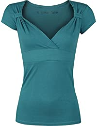 Fashion Victim Fashion V-Top T-shirt Femme pétrole