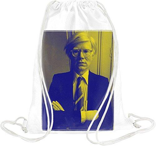 Blue Andy Warhol Kordelzugbeutel -