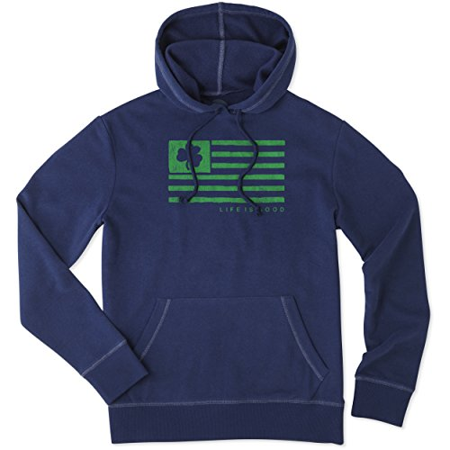 rren Sahne Hoodie Team Flagge Sweatshirt, Herren, Men's Go to Hoodie, Darkest Blue, Medium ()