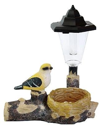 Solarlampe Vogel mit Bewegungsmelder Solar Garten LED Lampe Leuchte Deko von dynamic24 auf Lampenhans.de
