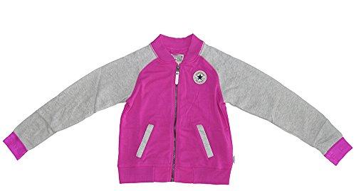 Converse Chuck Taylor Raglan Varsity Jacke - Magenta Glow - 2-3 Years / 90-96cm (Converse Baby-kleidung)