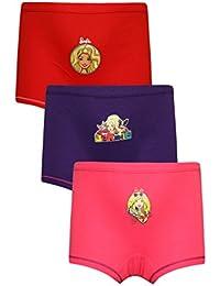 5721ecf7dacb9 Red Rose Girls Hipster Barbie Print Cotton Panties- Pack of 3