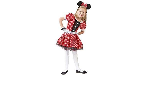 Mäuslein Kinder Pünktchenkleid Minniekleid Kostüm Comic Maus Mini Kinderkostüm