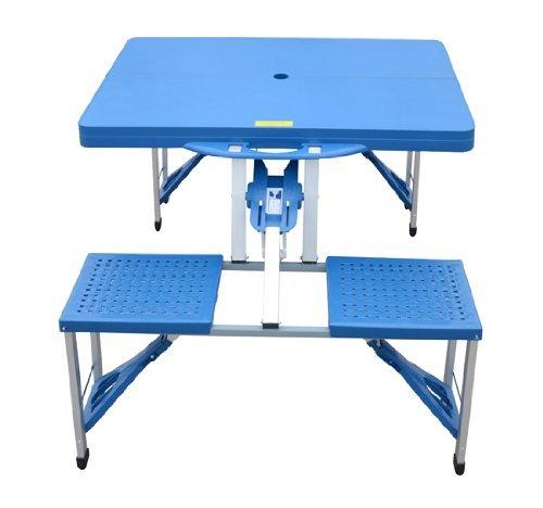 Tavolo Da Campeggio Con Sedie.Homcom Outsunny Tavolino Da Campeggio Con 4 Sedie Richiudibile A