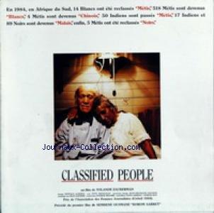 DIVERS du 31/12/2099 - CLASSIFIED PEOPLE - YOLANDE ZAUBERMAN - EN AFRIQUE DU SUD.