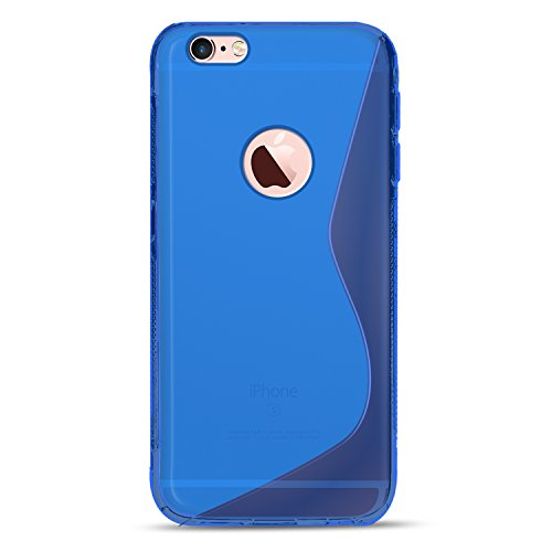 iPhone 5S / SE / 5 Schutz Set, Conie Mobile Set [1x Silikon Hülle + 1x Displayschutzfolie] Backcover Schutzhülle und Panzerglas Schutzfolie Anti Fingerabdruck Blau