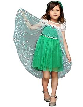 Pettigirl Mädchen Kostüm Prinzessin Königin Cosplay Party Halloween Fantastisches Kleid