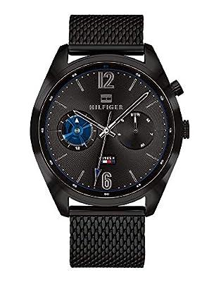 Tommy Hilfiger Reloj Multiesfera para Hombre de Cuarzo con Correa en Acero Inoxidable 1791547