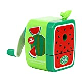BXT Taille-Crayon à Manivelle Manuel Mode Taille-Crayon Manuel d'apprentissage Fournitures pour Enfant Cadeau Forme Fruit pour Fille Garçon Taille-Crayon Magnifique et Charmant Couleur- Pastèque Vert
