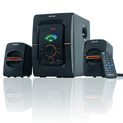 OSCAR OSC-2241BT 2.1 Channel Multimedia Speaker System with 6000W PMPO, Hi-Fi Sound, Remote Control