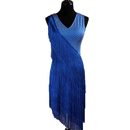 83695dfa4314 WQWLF Vestito da Ballo Latino per Le Donne di Nuovo Stile Frange Abiti da  Concorso Latini