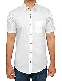 ROYAL Attire Men's Contrast Button Slim Fit Formal Shirt