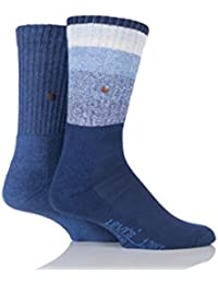 Herren 2 Paar Levis 120SF Rugby gestreifter Baumwolle Socken