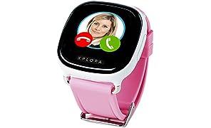 XPLORA - Telefonuhr für Kinder - Telefonieren, Mitteilungen senden und empfangen, Ruhezeiten, Sicherheitszonen, SOS, GPS-Ortung, Kalender (PINK SIM-Free)