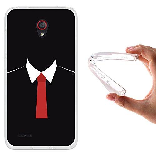 WoowCase Alcatel OneTouch Go Play Hülle, Handyhülle Silikon für [ Alcatel OneTouch Go Play ] Mafia Handytasche Handy Cover Case Schutzhülle Flexible TPU - Transparent