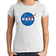 T-Shirtshock - T-shirt para las mujeres T0940 nasa militari