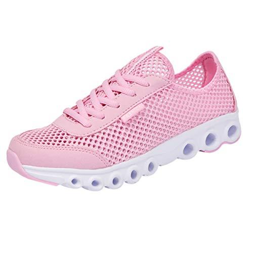 hl Laufschuhe Mode Weicher Boden Freizeitschuhe Bequeme Atmungsaktiv Outdoorschuhe Leichtgewicht Einfarbig Mesh Fitness Sneaker ()