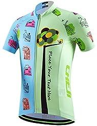 FreeFisher azul-verde Jersey infantil de ciclo respirable fresco ropa maillot de ciclismo para niños