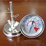 57mm Barbecue Smoker Pit Grill Thermometer Temperature Gauge with Dual Gage