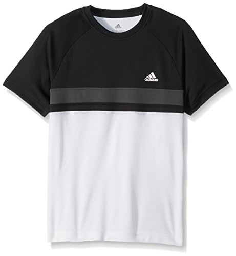 adidas Kinder Jungen-T-Shirt mit Tennis-Training, Fitness Gr. 13-14 Jahre, schwarz/weiß/grau