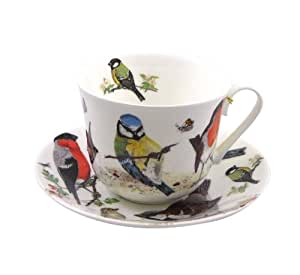 roy kirkham jumbo mug porcelaine fine garden birds cuisine maison. Black Bedroom Furniture Sets. Home Design Ideas