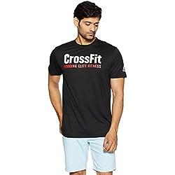 Reebok Rc Fef Speedwick Camiseta, Hombre, Negro, M