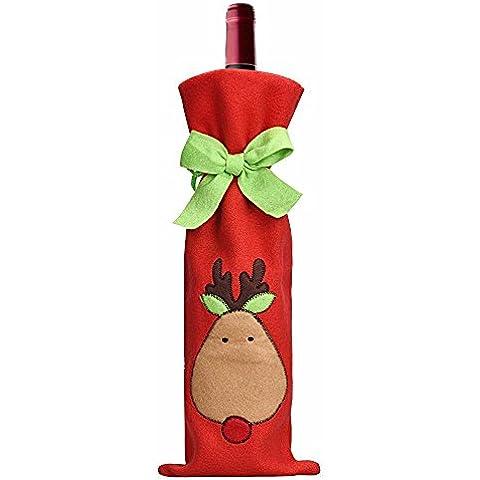 Bottiglia di vino di Natale creativo copertina,Sacchetto del vino di alce