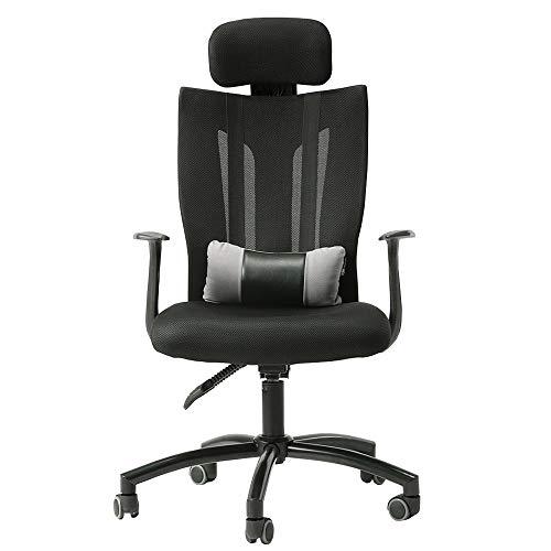 JIAYUAN Bürostühle Bürostuhl ergonomischer Schreibtischstuhl Moderne Einfachheit Studenten-Sessel Abnehmbares Lendenkissen einstellen 155 ° Komfort liegend Hölzerne Rückenlehne Gute Luftdurchlässigkei