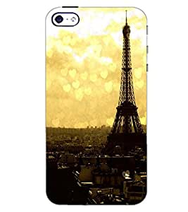 PrintDhaba EFFIEL TOWER D-6500 Back Case Cover for APPLE IPHONE 5 (Multi-Coloured)
