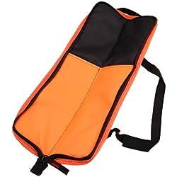 FLAMEER Waterproof Polyester Drum Stick Holder Drumsticks Storage Case Pouch - Orange, Small
