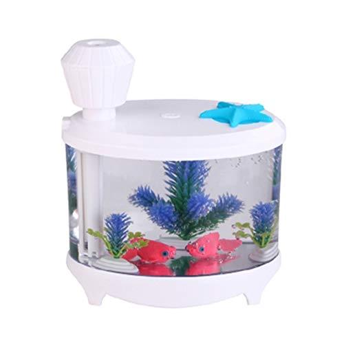 AWJ 460ML Silent Mini Usb Luftbefeuchter Befeuchtendes Aquarium-Aroma-Diffusor-Geschäfts-Geschenk,kreativ,Weiß -