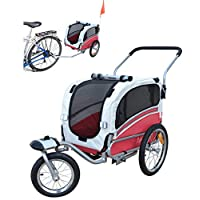 Polironeshop Argo Dog Cart Bicycle Trailer Animal Carrier Pet Bike Trolley with a Door red Size:Small