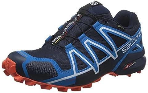 Salomon Speedcross 4 Gtx, Chaussures de Trail Homme, Bleu (Navy Blazer/Cloisonné/Flame), 42 EU
