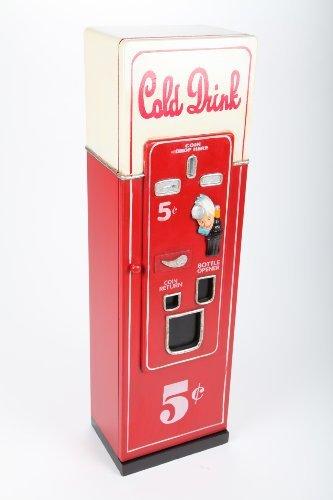 k DVD-Schrank DVD-Turm Getränkeautomat im Retrolook rot/weiß 88cm ()