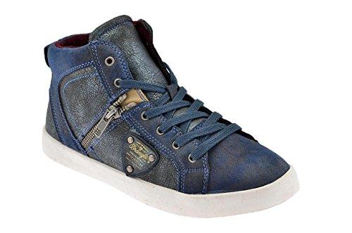 WRANGLER Sneaker Haute Oxid Mid Jr. Bleu EU 36