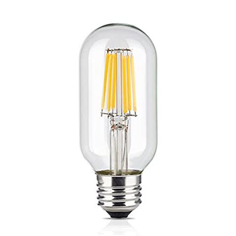 Hrph T45 4/6W Edison Style Antique LED Filament Tubular Light Bulb 2200/3000K E27 Medium Base Lamp